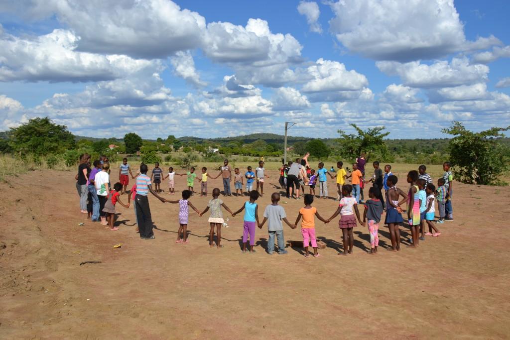 Children playing in villlage