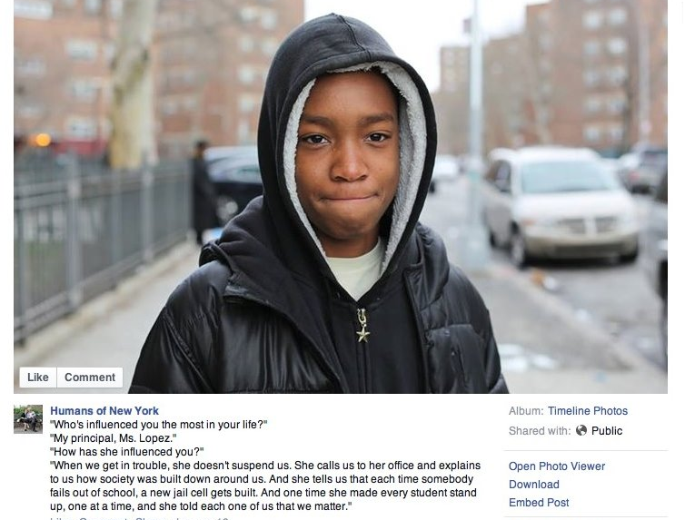 Image by Humans of New York